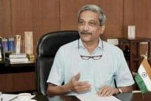 Goa Chief Minister Manohar Parrikar, who is suffering from a pancreatic ailment, is recovering well, a Goa minister said after  meeting him (File photo)