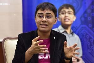 15-year-old Tanmay Bakshi, world's youngest IBM Watson programmer and IBM cloud champion during an event at Sharda University, in Greater Noida