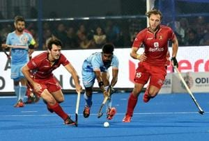India drew 2-2 with Belgium at the Hockey World Cup in Bhubaneswar on Sunday.