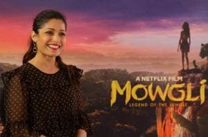 Freida Pinto promotes Netflix's Mowgli: Legend of the Jungle in Mumbai.