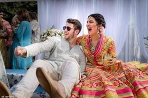 Priyanka's apparel reflected the cultural spirit, flare and colours of Rajasthan, their choice of location for their wedding