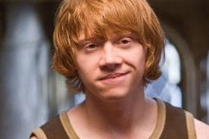 Rupert Grint as Ron Weasley in Harry Potter.