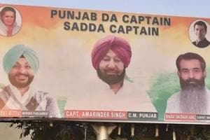 Ludhiana's streets filled with 'Sadda Captain' posters for Amarinder Si...