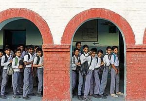 The Delhi government distributes books to the students and transfer subsidy for uniforms and stationery directly into their bank accounts once a year
