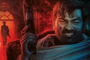 Actor Vijay Sethupathi's first look from upcoming film Petta was shared on social media.