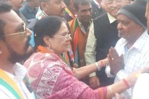Rajasthan assembly election 2018: Congress veteran Girija Vyas on campaign trail in her assembly constituency Udaipur.