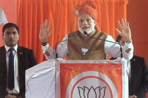 "Narendra Modi said the Congress' ""namdar [dynast]"" has issued a ""fatwa [edict]"" that he should not start his speeches with 'Bharat Mata Ki Jai'."
