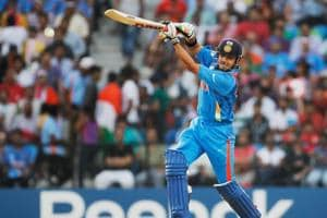 Gautam Gambhir in action in the 2011 ICC World Cup final against Sri Lanka in Mumbai. Gambhir top scored for India with 97 in a chase of 275 as India won the World Cup.