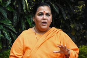 Uma Bharti had said last week that the BJP does not have a patent on Ram temple, and called upon all parties to come together to build the temple in Ayodhya.
