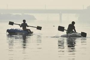 The Yamuna river in New Delhi. Spike in the river's ammonia levels is a recurrent problem which takes place every winter and ends up in a blame game between Delhi and Haryana.