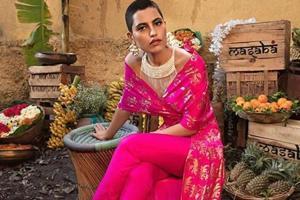Model Priya Singh is a mainstream model with a buzz cut.