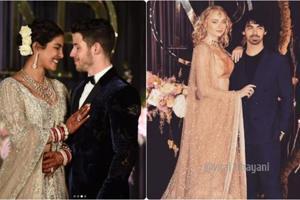 Priyanka Chopra, Sophie Turner in shimmer at Priyanka-Nick's Delhi reception.