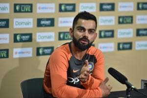 India captain Virat Kohli speaks to the media ahead of the first Test at the Adelaide Oval.