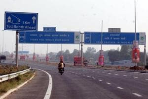 A view of Kundli Manesar Palwal Expressway, in Gurugram, which was opened on November 19.