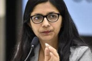 A three-member team of Delhi Commission for Women, led by its chairperson Swati Maliwal (in photo),  on Tuesday visited the women's shelter home where they found that the inmates were not being provided adequate food and clothing.