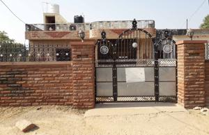 Rajasthan Assembly Election 2018: Residence of of slain gangster Anandpal Singh .  A group of Rajputs in Anandpal's village said the BJP has pacified them by giving ticket to current MLA Manohar Singh, who is a Rajput.
