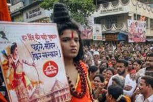 Shiv Sena supporters perform