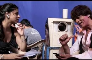 Suhana Khan with father Shah Rukh Khan on the sets of Zero.