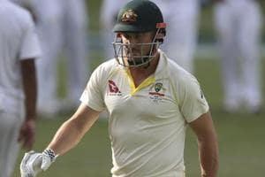 Shaun Marsh returns after he was dismissed by Ravichandran Ashwin in Adelaide.