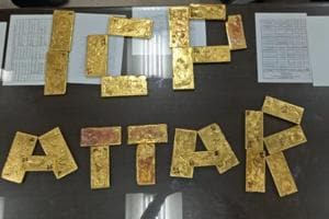 Customs department have seized gold plates weighing 32.6 kg from a Pakistan truck which reached at Integrated Check Post (ICP) at Attari border in Amritsar.