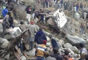 The accident took place when a passenger bus — registration number JK02W0445 — heading from Loran to Poonch skid off the road and fell into a deep gorge at Plera. Plera is nearly 30 km away from Poonch.