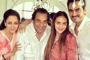 Esha Deol shared a special picture of her father Dharmendra on his birthday.