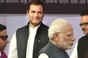 Prime Minister Narendra Modi and Congress president Rahul Gandhi.