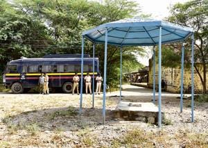 The police have ringfenced  the area near Samadhi of Govind Gopal Mahar at Vadhu Budruk in Pune.