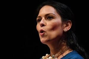 Conservative Party member of parliament Priti Patel speaks at a fringe event hosted by the Brexit Central website in Birmingham.