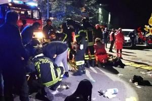 The dead included three girls and two boys and an adult woman, a mother who had accompanied her daughter to the disco in Corinaldo, where an Italian rapper was entertaining the crowd, police chief Oreste Capocasa said in nearby Ancona.