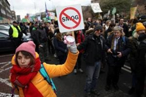 Protesters take part in the March for the Climate on the streets of Katowice, where the COP24 UN Climate Change Conference 2018 is held, Poland December 8, 2018.