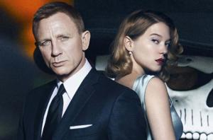 Daniel Craig and Lea Seydoux on a poster for Spectre.