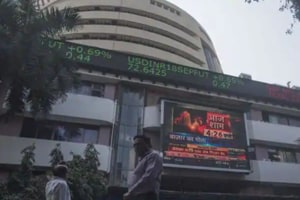 Exit polls outlook and global sell-off makes Sensex, Nifty jittery