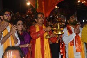 Shiv Sena chief Uddhav Thackeray performs puja in Ayodhya Uttar Pradesh.