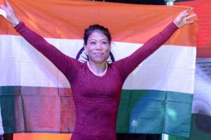 Boxer MCMary Kom, world champion and Olympic medal winner spoke to students of a coaching institute in Kota on December 9, 2018.