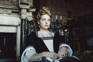 This image released by Fox Searchlight Pictures shows Emma Stone from the film The Favourite.