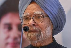"""Former prime minister Manmohan Singh alleged Monday the BJP-led central government was taking the country towards a """"wrong path"""" and the nation's freedom could be under threat due to its actions."""