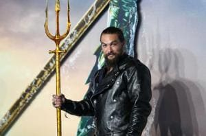 Actor Jason Momoa attends the world premiere of Aquaman in London, Britain.