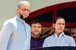 AIMIM president Asaduddin Owaisi has reiterated his support for TRS chief K Chandrasekhar Rao.
