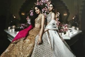 Actor Janhvi Kapoor and her sister Khushi looked pretty at Isha Ambani's pre-wedding celebrations.