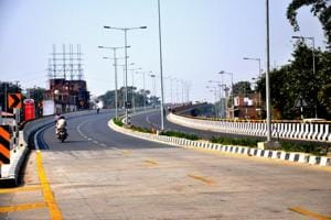 A flyover on Babatpur-Varanasi national highway which was recently converted into four lane