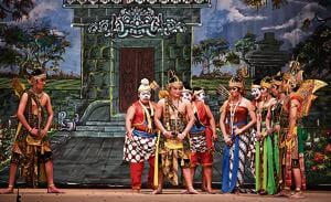 Java's Wayang Orang group which enacts episodes from the Mahabharata and the Ramayana.