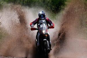 CS Santosh (pic), Joaquim Rodrigues and Oriol Mena  will ride on the Hero 450RR rally bike