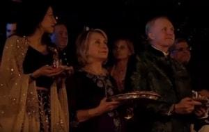 Watch: Hillary Clinton performing Aarti, Nita Ambani dancing