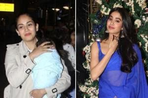 Mira Rajput and Janhvi Kapoor were spotted in Mumbai on Tuesday.