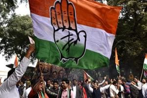 Congress supporters celebrate party