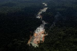 Photos: Brazil's Amazon rainforest besieged by illegal mining