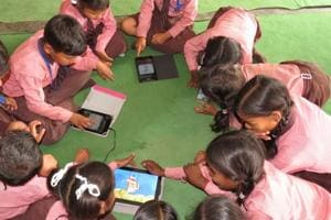 The number of govt schools running smart classes has been growing slowly but steadily.