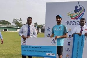 Leg spinner Mayank Markande picked up 4 wickets against Pakistan in the semi-final and was adjudged 'Man of the match'