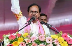 KCR takes oath as CM of Telangana for second term